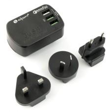 Kelioninis maitinimo šaltinis USB 3.4A