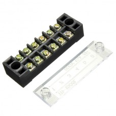 12 Positions Dual Rows 600V 15A Wire Barrier Block Terminal Strip TB-1512