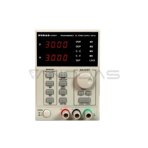 Laboratorinis maitinimo šaltinis Korad KA3005P 0-30V 5A USB