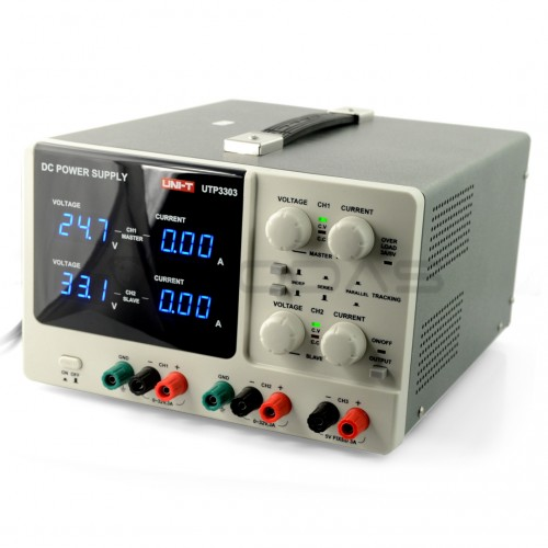 Laboratory power supply UNI-T UTP3303 2x 32V/3A + 5V/3A