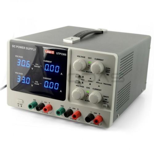 Laboratorinis maitinimo šaltinis UNI-T UTP3305 2x 32V/5A + 5V/5A