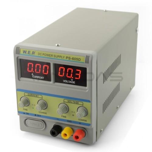 Laboratorinis maitinimo šaltinis WEP PS-605D 60V 5A