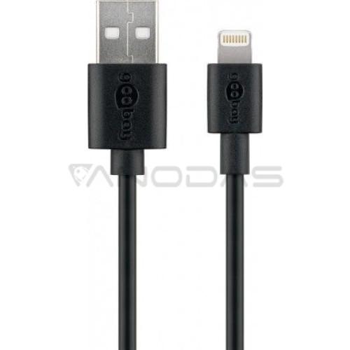 Laidas USB 2.0 A kištukas - Lightning IPhone kištukas 1m