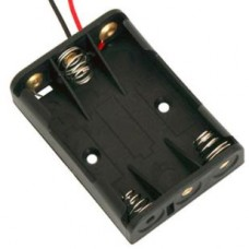 Battery holder 3xAAA with lead wire