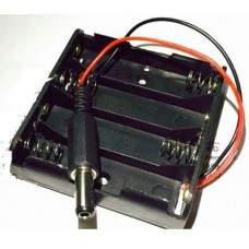 Battery holder 4xAA with DC connector