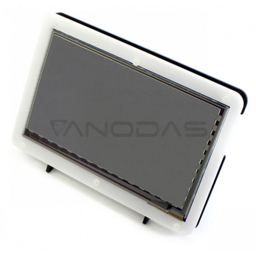 "Case for Waveshare LCD Screen HDMI 7"" Black And White"