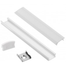 LED juostų aliuminis profilis 2m - baltas