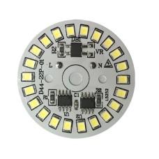 AC230V LED lamp plate 15W 44MM round No need driver Smart IC bulb lamp For DIY White LED Floodlight Spotlight 2835 PCB