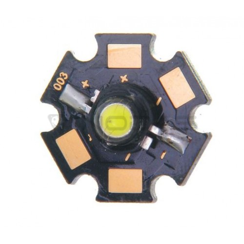 High power LED Star 3W cold white