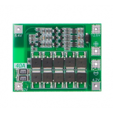 Li-ion Ličio baterijų įkrovimo modulis su apsauga  3S 12.6V 40A 18650