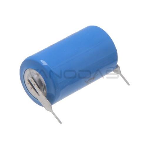 Ličio baterija  CR14250 3V 600mAh su litavimo kontaktais