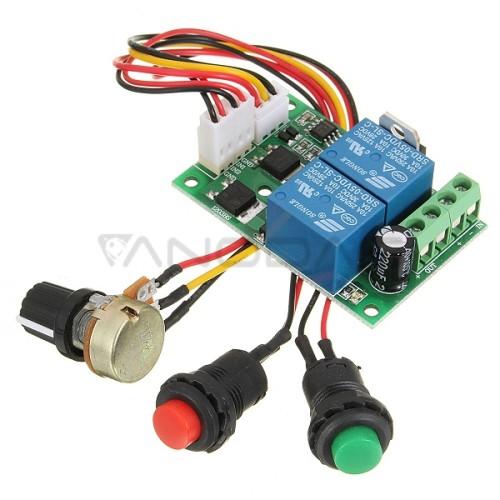 Linijinių pavarų valdiklis su mygtukais ir greičio reguliavimu 6-30VDC 8A