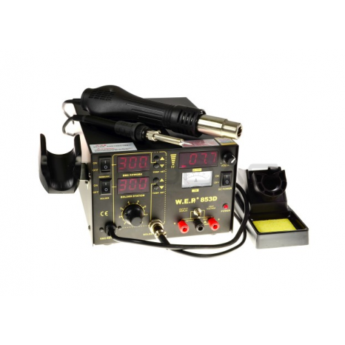 Soldering station 2in1 WEP 853D with Hotair 60W
