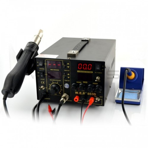 Soldering station 2in1 WEP 853D5A with Hotair 75W