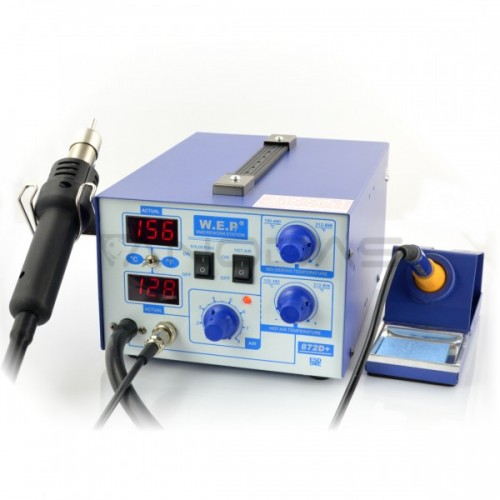 Soldering station 2in1 WEP 872D+ with Hotair 700W