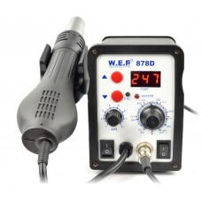 Soldering station 2in1 WEP 878D with Hotair 700W