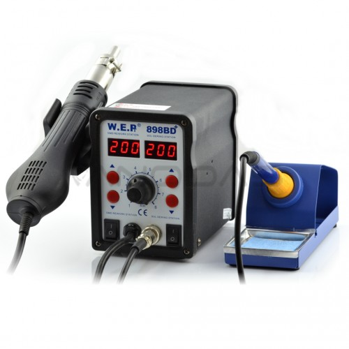 Soldering station 2in1  WEP 898BD+ with Hotair 700W