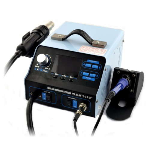 Soldering station 2in1 WEP 992D+ with Hotair 720W