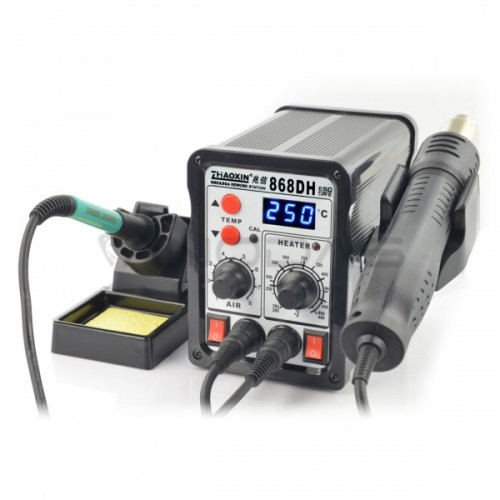 Soldering station 2in1 Zhaoxin 868DH with Hotair 760W