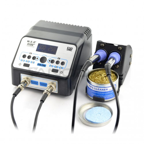 Soldering station WEP 938D+ 75W - two irons
