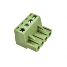 4 poles pitch 5.08mm height 15mm green colour clamp:phosphor bronze nickel