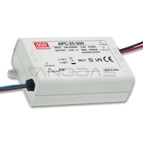 Mean Well Impulsinis srovinis šaltinis LED 500mA 15-50V