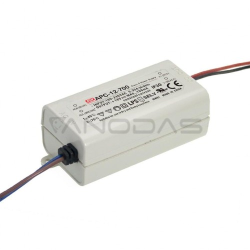 Mean Well Impulsinis srovinis šaltinis LED 700mA 9-18V