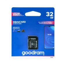 32GB 100MB/s microSD atminties kortelė Goodram M1AA