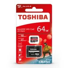 64GB 98Mb/s microSD atminties kortelė Toshiba Exceria M303
