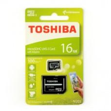 16GB 100Mb/s microSD atminties kortelė Toshiba