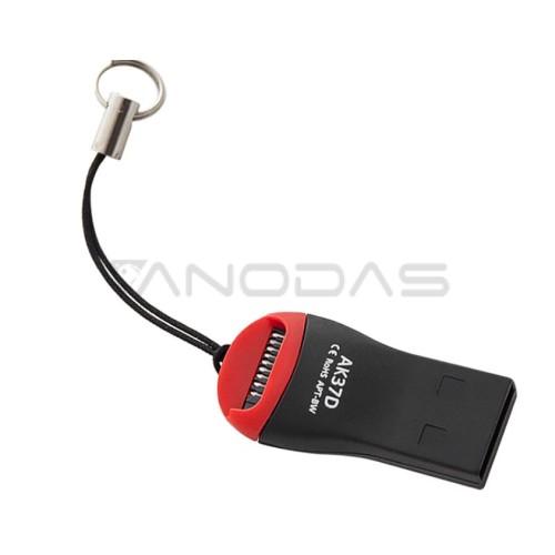 Micro SD kortelių skaitytuvas USB 2.0