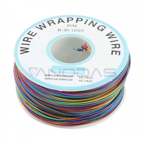 Single-Core Tinned Copper Wire 0.25mm total length 250m - 8 color