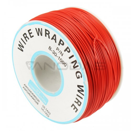 Single-Core Tinned Copper Wire 0.25mm total length 250m - Red