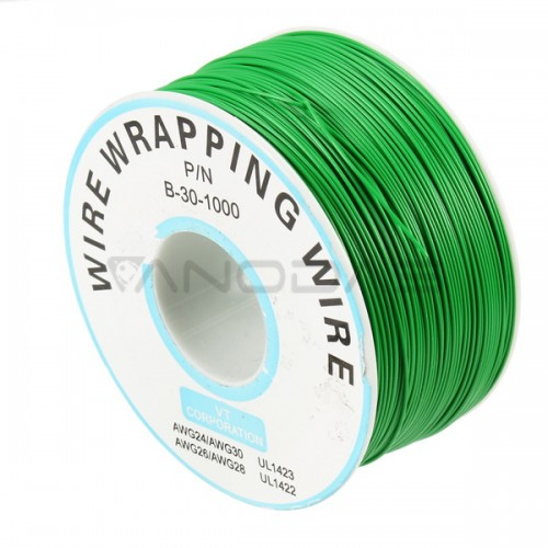 Single-Core Tinned Copper Wire 0.25mm total length 250m - Green
