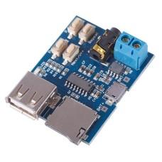 MP3 grotuvo modulis su 2W stiprintuvu USB ir kortelių skaitytuvu