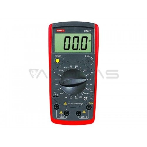 UNI-T UT601 Professional Capacitance Meters Ohm Meter Capacitor Resistor with Diode and hFE Test