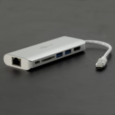Goobay multiport adapteris - 2 x USB 3.0. SD. HDMI