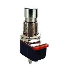 Mygtukinis jungiklis OFF-(ON) SPST 2P 6A 250VAC sidabrinis