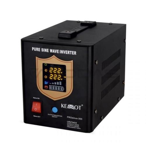 Nepertraukiamo maitinimo šaltinis 300W 12V/230VAC sinusas KEMOT juodas
