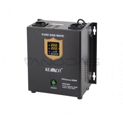 Nepertraukiamo maitinimo šaltinis 500W 12V/230Vac KEMOT PROsinus-500