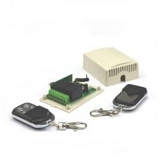 2 kanalų relė 12-24VDC 433 Mhz su 2 valdymo pultais