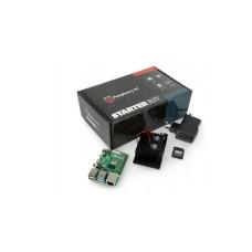 Raspberry Pi 4B WiFi 2GB RAM rinkinys su priedais - korpusas su dviem ventiliatoriais