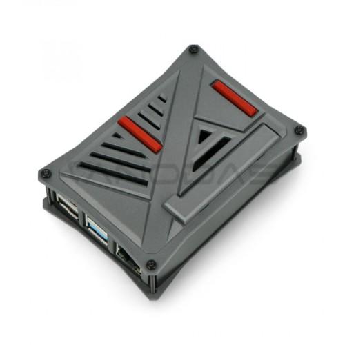 Raspberry Pi 4B grafito spalvos ABS dėžutė
