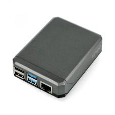 Raspberry Pi 4B aliumininė dėžutė Argon Neo - pilka