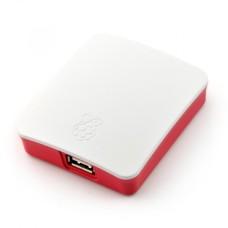 Raspberry Pi 3A oficiali dėžutė - raudonai balta