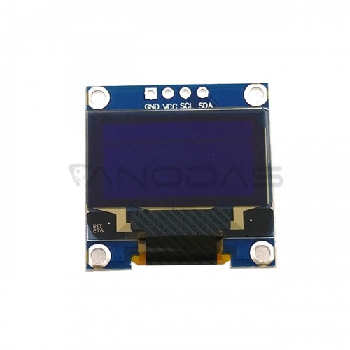 "OLED display 0.96"" 128x64 with I2C - White"
