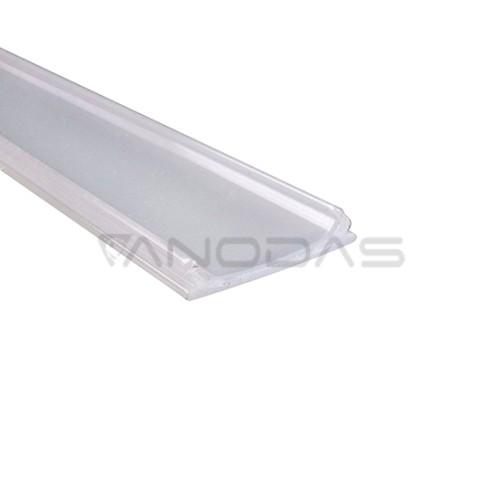 Dangtelis matinis LED juostų profiliui 1m