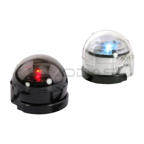 Ozobot Bit 2.0 interaktyvių robotų rinkinys - du robotai juodas ir baltas