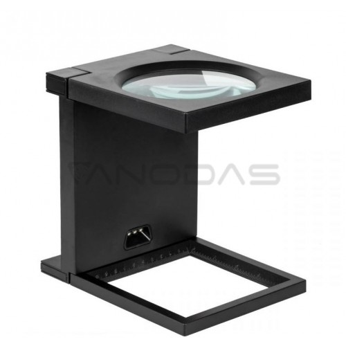 Pastatomas padidinimo stiklas 108mm/2.5D 3x LED