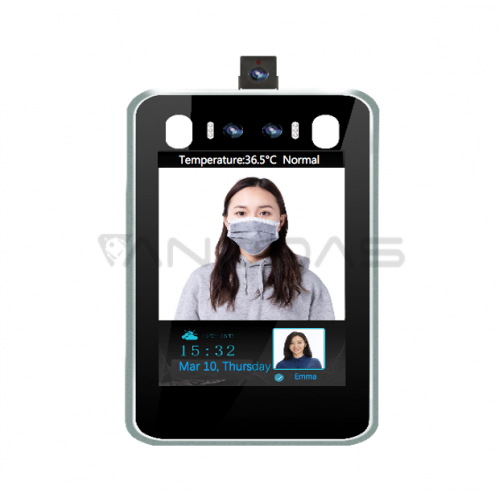 PercepCam 8-inch Facial Recognition Fever Screening Access Tablet With Cloud Reporting